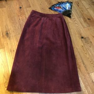 The tannery West genuine leather suede skirt